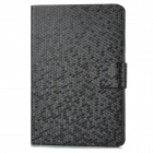 Diamonds Pattern Protective PU Leather Case for Ipad MINI - Black