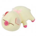 Car Decorate Bamboo Charcoal Pig Toy Odor Absorber - Pink + Light Yellow