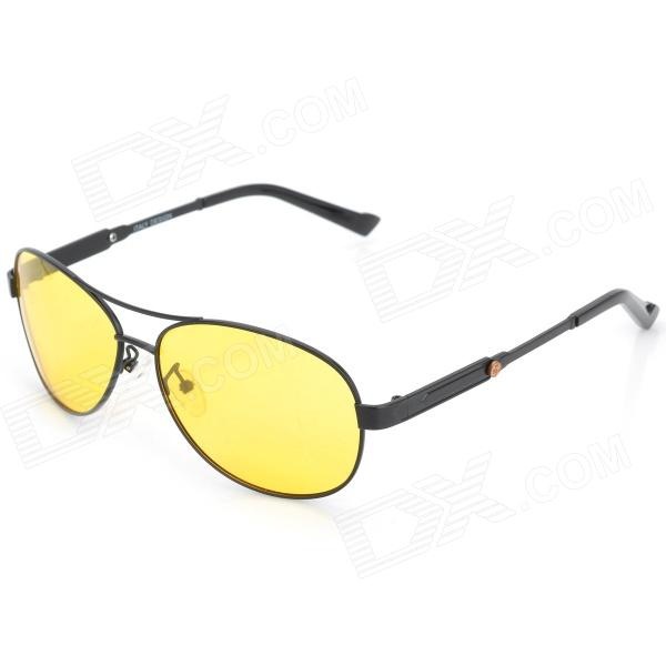 KANUO Y9103 Professional Driving Man's Polarized Lens Anti-Glare Night Vision Goggles - Black new polarized driving sunglasses glasses mirror night and day dimming night vision glasses