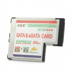 E1 54mm Express to SATA + eSATA Expansion Card for Laptop / Notebook - Black + Silver