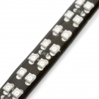 Waterproof Double-Row 8.64W 360lm 620~630nm 72-SMD 3528 LED Red Car Decoration Light Strip (30cm)