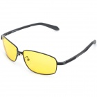 KANUO Y9118 Professional Driving Resin Lens Zinc Alloy Frame Anti-Glare Night Vision Goggles - Black