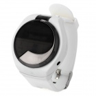 Rechargeable Bluetooth 3.0 Watch Caller ID and Answer Phone Call for GALAXY S4 + More- White + Black