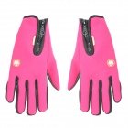 Outdoor Screen Touching Full-Finger Hand Warmer Gloves for Cycling / Skiing - Deep Pink (S / Pair)