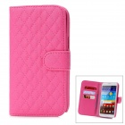 Protective Lambskin + ABS Case for Samsung Galaxy Note 2 N7100 - Deep Pink
