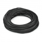 DIY Protective Knit Mesh Cable Cover Shield for Computer Power / Audio Cable + More - Black (30m)