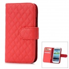 Protective Lammfell + ABS Case w / Card Slot für Samsung Galaxy S3 i9300 - Red