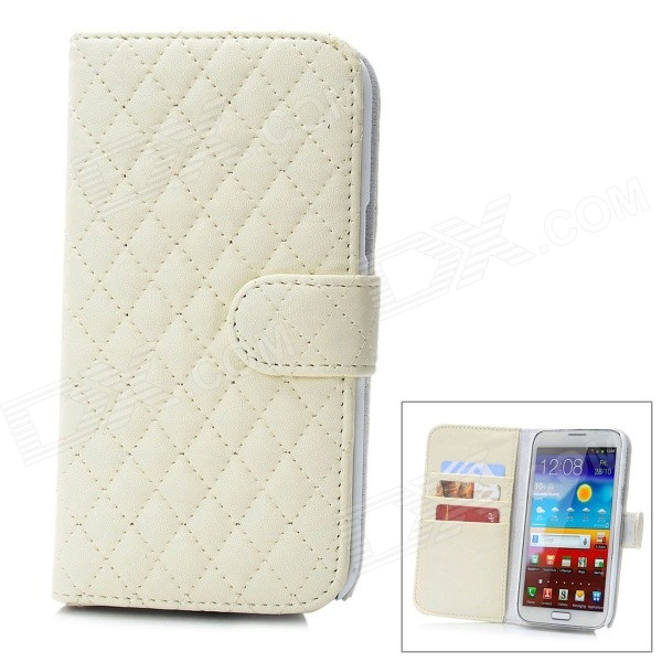 Protective Lambskin + ABS Case w/ Card Slot for Samsung Galaxy Note 2 N7100 - White аксессуар чехол alcatel onetouch 4024 pixi first red line book type sleek gold