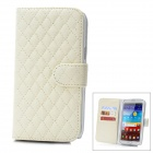 Protective Lambskin + ABS Case w/ Card Slot for Samsung Galaxy Note 2 N7100 - White
