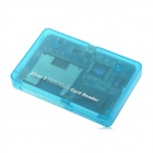9A49 USB 2.0 Compact Flash Card / Micro Driver / Smart Media Card Reader - Translucent Blue