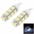 T10 2.5W 270lm 13-SMD 5050 LED White Light Car Reading / Clearance / Indicator Lamp (DC 12V / Pair)