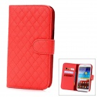 Protective Lambskin + ABS Case for Samsung Galaxy Note 2 N7100 - Red