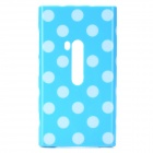 White Dot Pattern Protective Silicone Case for Nokia Lumia 920 - Sky Blue