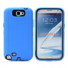 Protective Plastic + Silicone Case for Samsung Galaxy Note 2 N7100 - Blue + Black