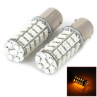 1156 4.5W 250lm 68-SMD 3528 LED Yellow Light Bulb for Car (DC 12V / Pair)
