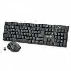 ZUNTUO 2.4GHz Wireless Mouse + 104-Key Keyboard Set - Black (2 x AAA / 1 x AA)