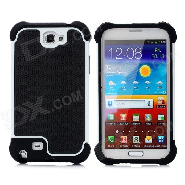 Protective Plastic Case for Samsung Galaxy Note 2 N7100 - Black + White