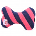 Bone Style Plush Squeaky Playing Toy for Pet Dog / Cat - Black + Pink