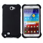 Protective Plastic + Silicone Case for Samsung Galaxy Note 2 N7100 - Black