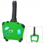 Cute Suitcase Style Travel Suitcase ID Luggage Tag - Green + Black