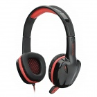 SADES SA-904 Fashion Stereo Gaming Headphone w/ Microphone - Black + Red