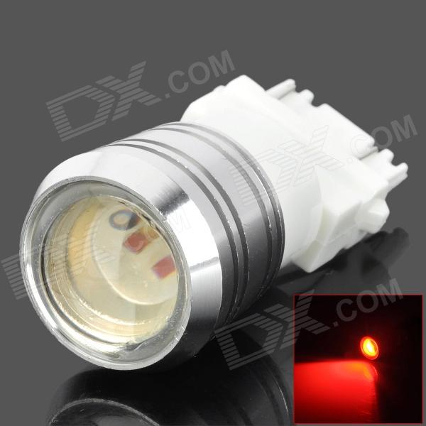 YT31575566 3157 3W 200lm 1-LED Light Red Car Brake Bombilla - Blanco + Silver (DC 12V)