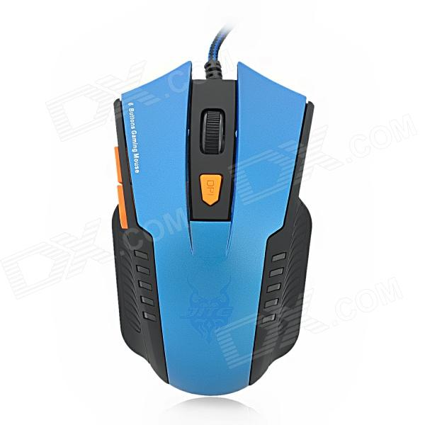 JITE 2046-2 USB Wired 800 / 1000 / 1200 / 1600dpi 6D Game Optical Mouse - Blue + Black (170cm-Cable) zuntuo zt 302 heise 2 4ghz 800 1200 1600 2000dpi wireless optical mouse black blue