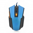 JITE 2046-2 USB Wired 800 / 1000 / 1200 / 1600dpi 6D Game Optical Mouse - Blue + Black (170cm-Cable)