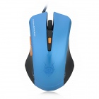 JITE 2047-2 USB Kabel 800/1000/1200 / 1600dpi 6D Spiel Optical Mouse - Blue + Black (170cm-Kabel)