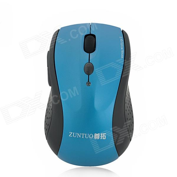 ZUNTUO ZT-302-HEISE 2.4GHz 800 / 1200 / 1600 / 2000dpi Wireless Optical Mouse - Black + Blue zuntuo zt 302 heise 2 4ghz 800 1200 1600 2000dpi wireless optical mouse black blue