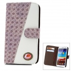 Protective PU Leather Flip-Open Case w/ Artificial Ruby for Samsung N7100 - Light purple + White