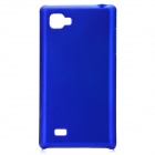 Protective Plastic Back Cover Case for LG P880 - Blue