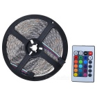 Waterproof 18W 1800lm 300-SMD 3528 LED RGB Flexible Strip Light w/ AC Adapter / IR Remote - White