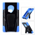 Protective Plastic + Silicone Anti-Shock Case w/ Stand for Nokia Lumia 920 - Blue + Black