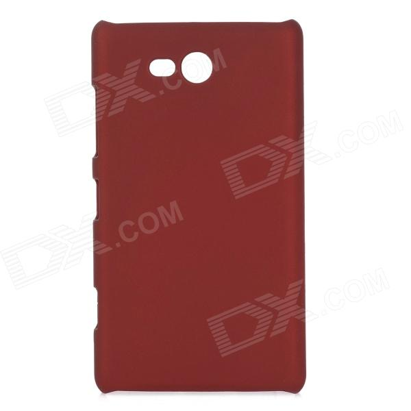 Protective Plastic Back Case for Nokia N820 - Red