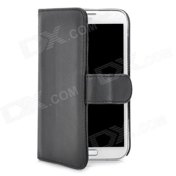 Protective PU Flip-open Case w/ Card Slots + Stylus for Samsung Galaxy Note 2 / N7100 - Black protective flip open pu case w stand card slots strap for samsung galaxy note 3 n9000 white