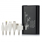 HCHC S-312 Tragbarer 8400mAh External Battery Charger w / LED Flashlight for iPhone 4 / 4S - Schwarz