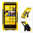 Protective Plastic + Silicone Anti-Shock Case w/ Stand for Nokia Lumia 920 - Yellow + Black