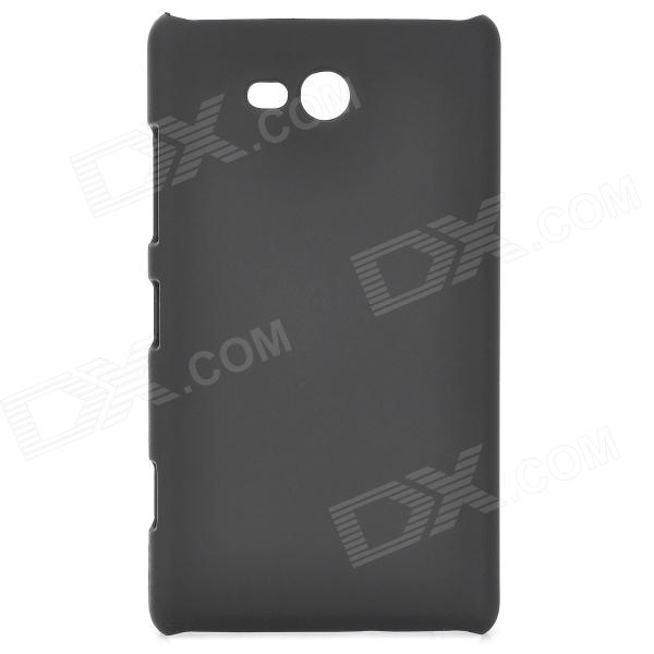 Protective Plastic Back Case for Nokia N820 - Black