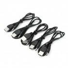USB 2.0 Male to DC 3.5mm Plug Power Adapter Cable - Black (5 PCS / 65cm)