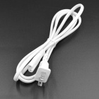 Universal US Plug AC Power Cable for Computer / Monitor - White (150cm-Cable)