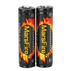 "MarsFire 3.7V ""930mAh"" 14500 Rechargeable Lithium Battery - Black + Red + Yellow (2 PCS)"