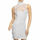 Sofisticado Sexy Curve Lace Cocktail Dress Meryl - Branco