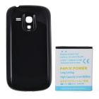 Replacement 3.7V 3800mAh Battery + Black Cover Case for Samsung i8190 Galaxy S3 Mini