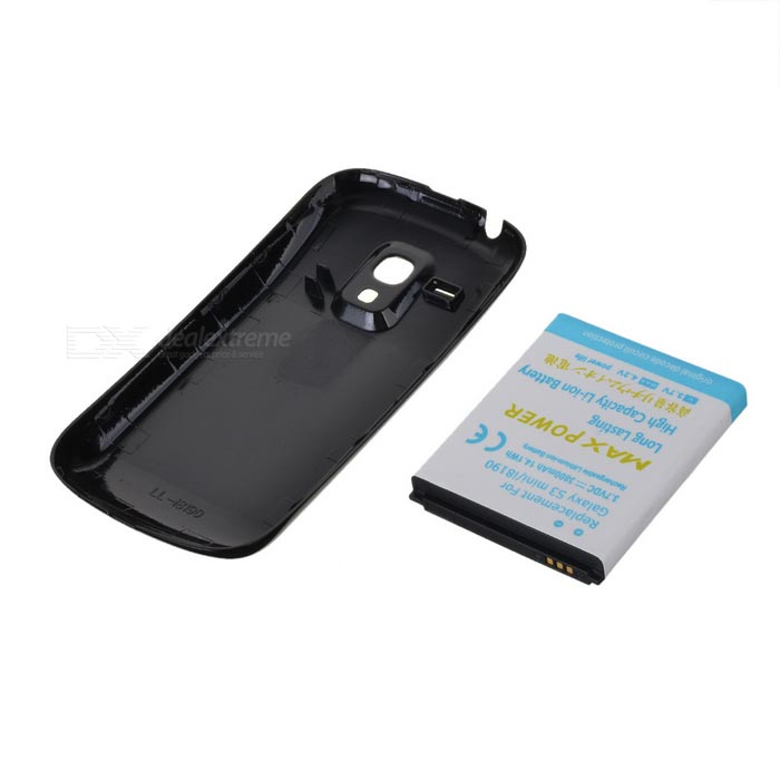 replacement 3 7v 3800mah battery black cover case for samsung i8190 galaxy s3 mini. Black Bedroom Furniture Sets. Home Design Ideas