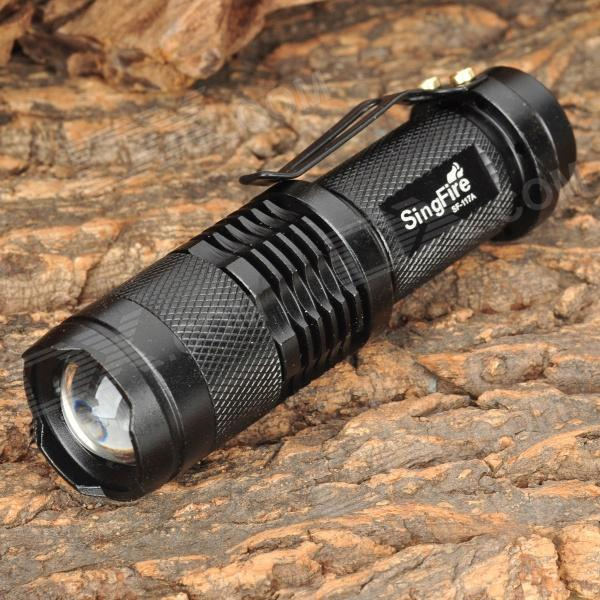 SingFire SF-117A 280lm 3-Mode Zooming Flashlight w/ CREE XP-E R2 - Black (1 x AA / 14500) singfire sf 117e 180lm 3 mode white zooming flashlight w cree xr e q5 red 1 x aa 14500