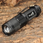 SingFire SF-117A CREE XP-E R2 280lm 3-Mode Zooming Flashlight - Black (1 x AA / 14500)