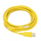 Micro USB Male to USB Male Round Charging Data Cable - Yellow (3m)