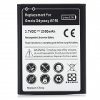 "Replacement 3.7V ""2500mAh"" Li-ion Battery for Samsung Omnia Odyssey /I8750 - White + Black"