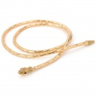 Snake Shape Lady's Zinc Alloy + Rhinestone Waist Chain Necklace - Golden